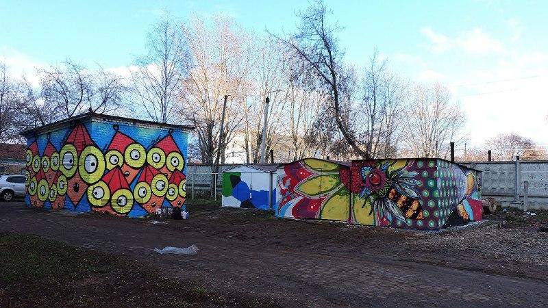 На Октябрьском проспекте появились причудливые граффити (+ФОТО)