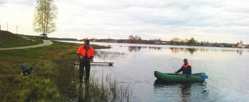 На одном из прудов Кировской области запущен плавающий фонтан