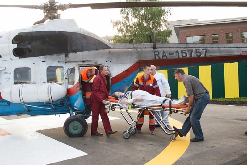 В Киров санвиацией доставили первого пациента