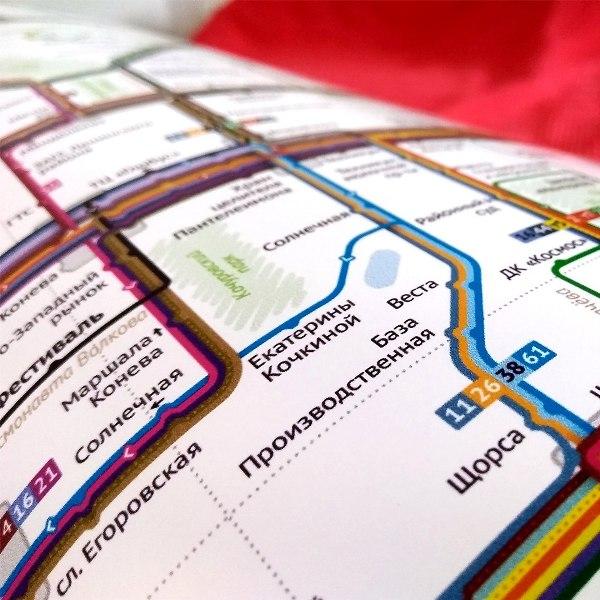 Кировский дизайнер разработал карту маршрутов общественного транспорта