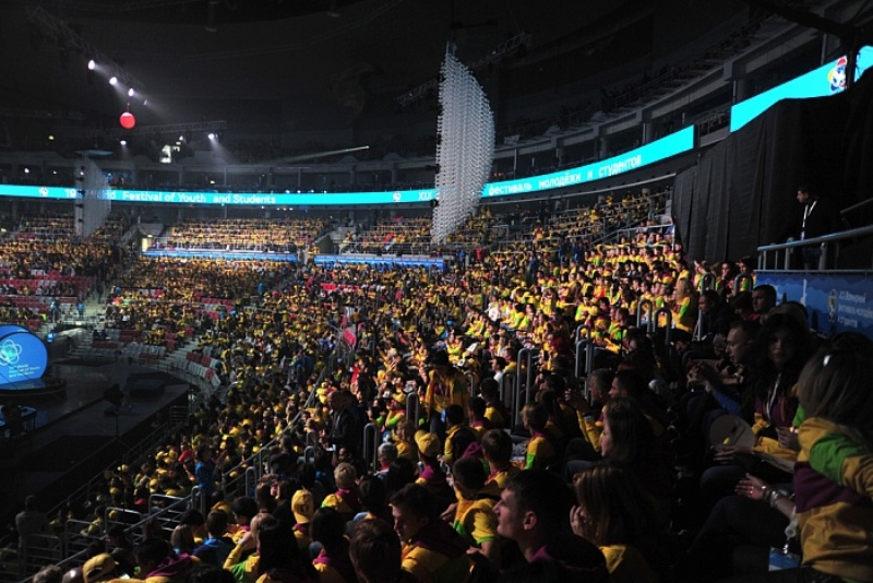 Кировчане приняли участие в церемонии открытия Всемирного фестиваля молодёжи и студентов в Сочи