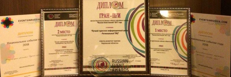 Кировчане вернулись победой с финала Национальной премии событийного туризма