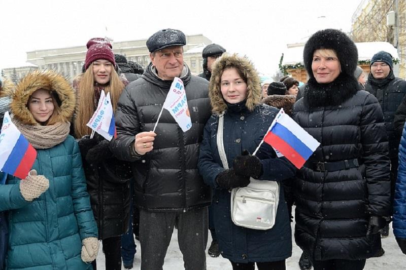 Акция в поддержку олимпийцев собрала в Кирове более четырёх тысяч человек