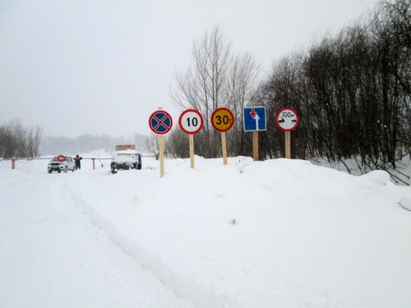 В Кировской области открыта еще одна ледовая дорога