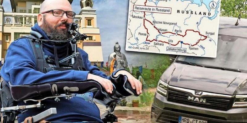 Кировскую область посетит путешественник из Германии в инвалидной коляске
