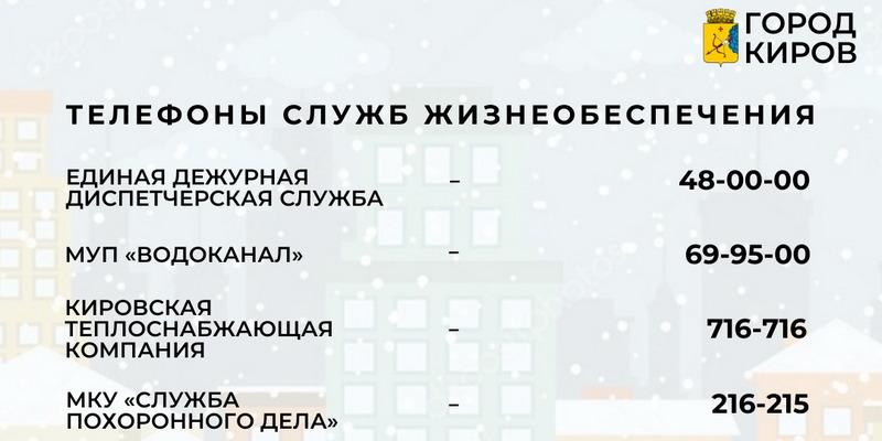 Кировчанам рассказали, куда звонить в случае ЧП в праздники