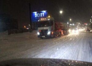 Снегопад в Кирове: заторы, пробки, ДТП
