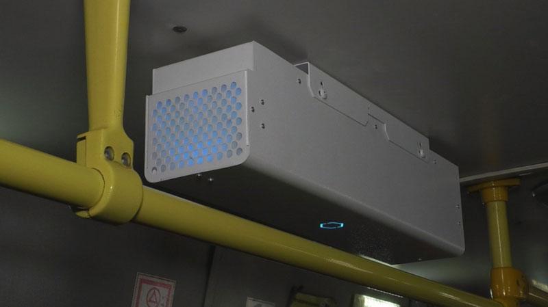 В кировском транспорте установили рециркуляторы воздуха