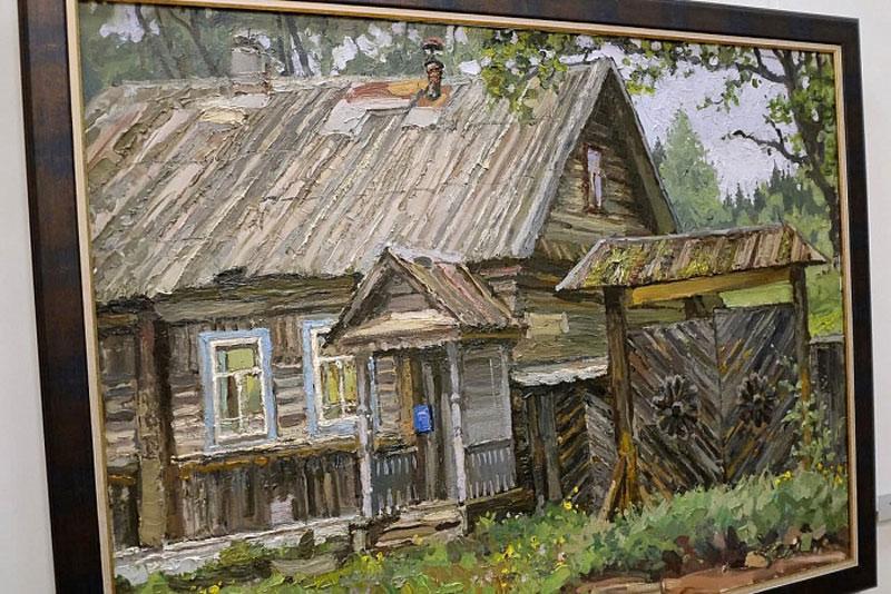 Губернатор оценил вятские пейзажи в исполнении известного художника