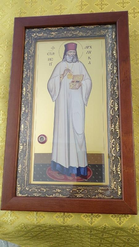 В кировский храм при клинической больнице привезли икону с сердцем святого