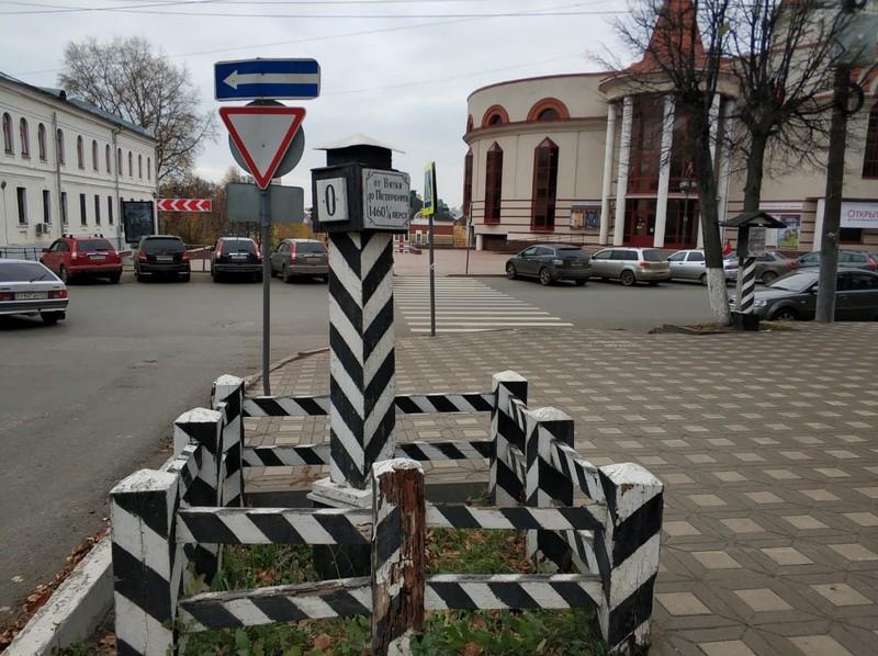 Кировчане обнаружили пропажу верстового столба