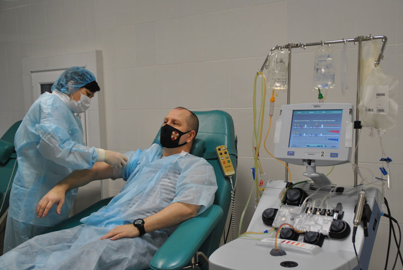 Сотрудник кировской Росгвардии стал донором для онкобольной пациентки