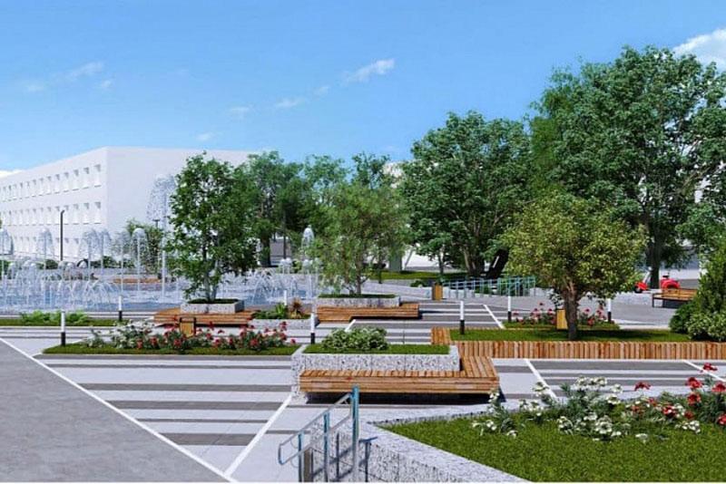 В Вятских Полянах благоустроят площадь с фонтанами