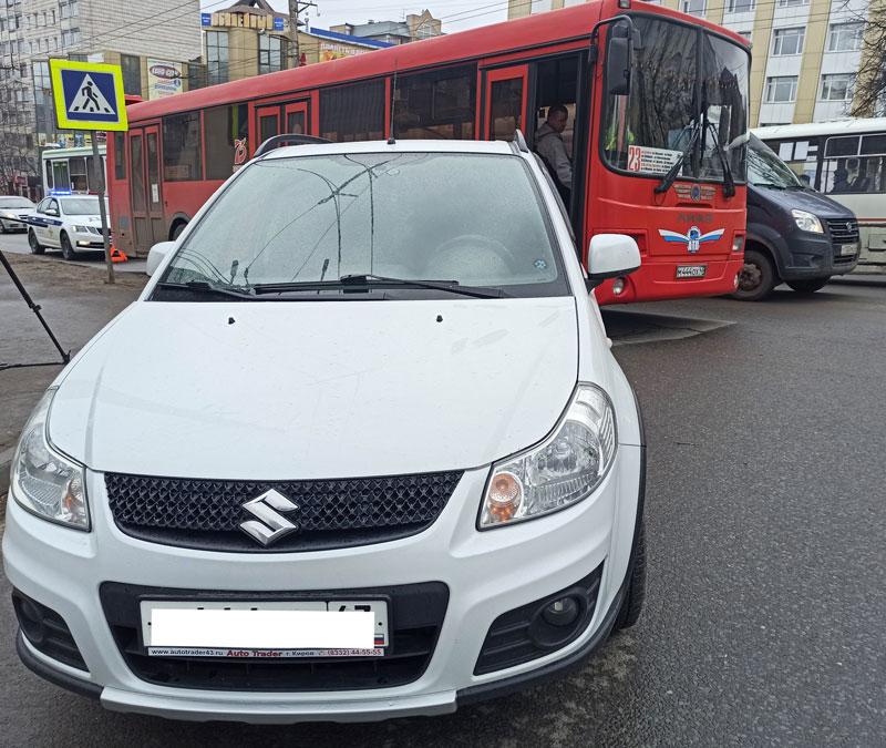 В утреннем ДТП с автобусом в Кирове пострадал ребенок