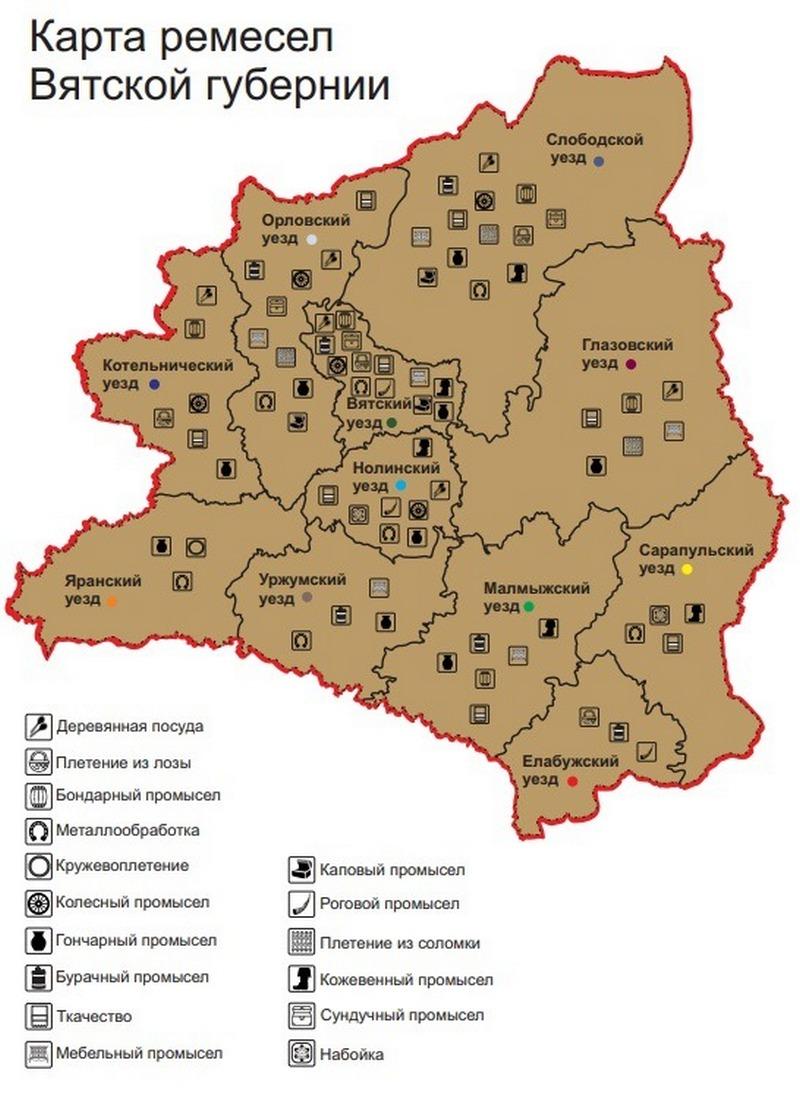 В Кирове разработали карту народных промыслов Вятской губернии