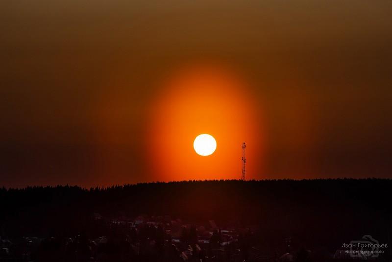 В Кировской области в небе заметили пыльцевую корону