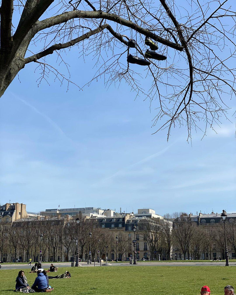 Жанна Агалакова показала весну в Париже