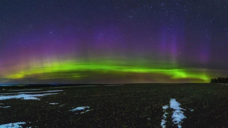 Жители Кировской области наблюдали полярное сияние