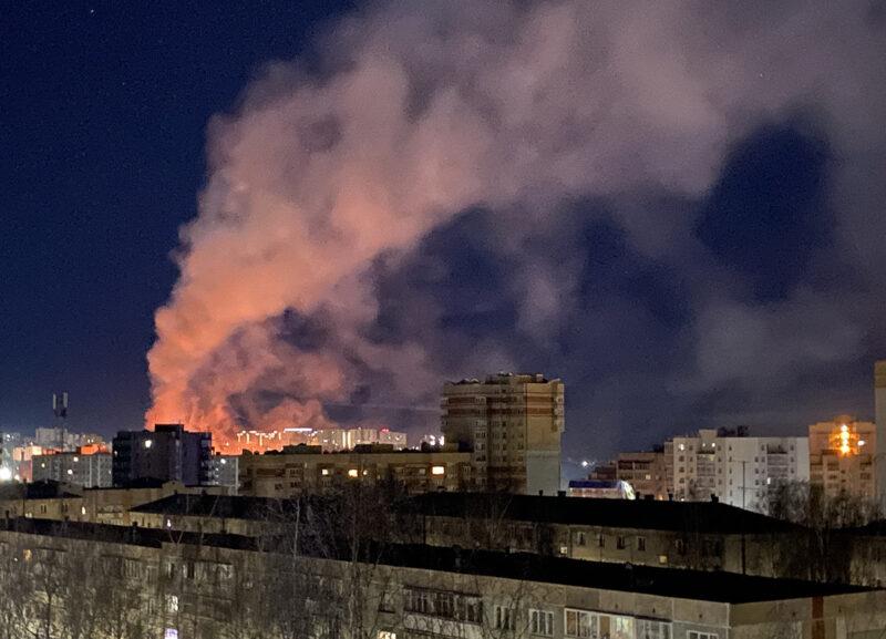 Ночью в Советском районе сгорела школа