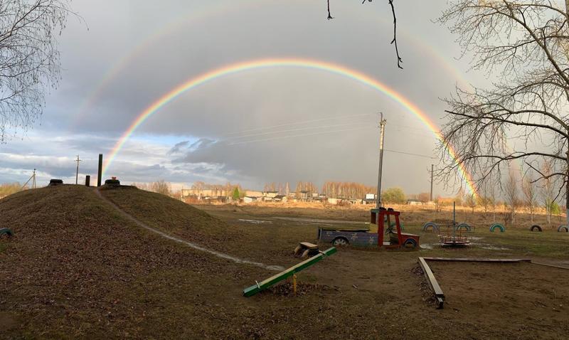 В Кировской области сфотографировали апрельскую радугу