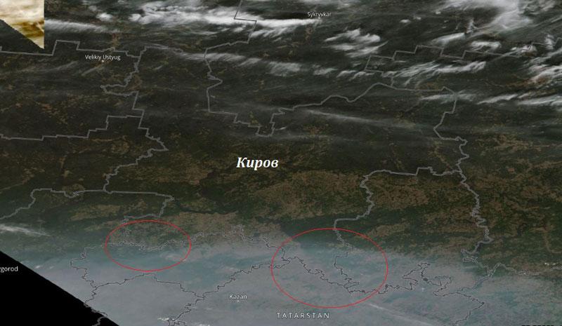 Кировскую область накрыл дым от сибирских лесных пожаров