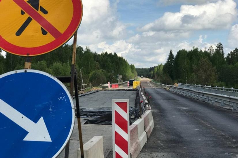 Мост через реку Березовка в Советском районе отремонтирован на 80%