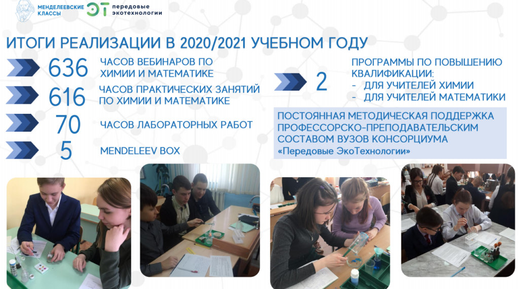 Учащиеся Менделеевского класса школы поселка Мирный представили экологические проекты