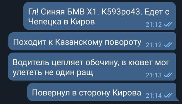 В Кировской области остановили следователя на «виляющем» авто