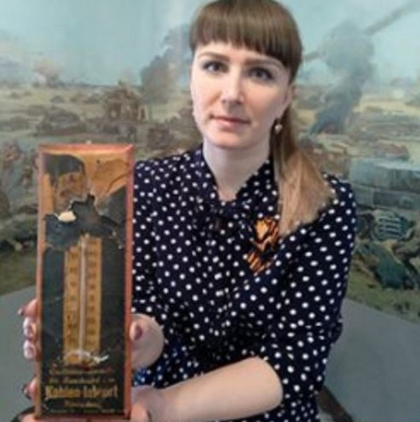 В Кировской области измеряют температуру воздуха трофейным термометром