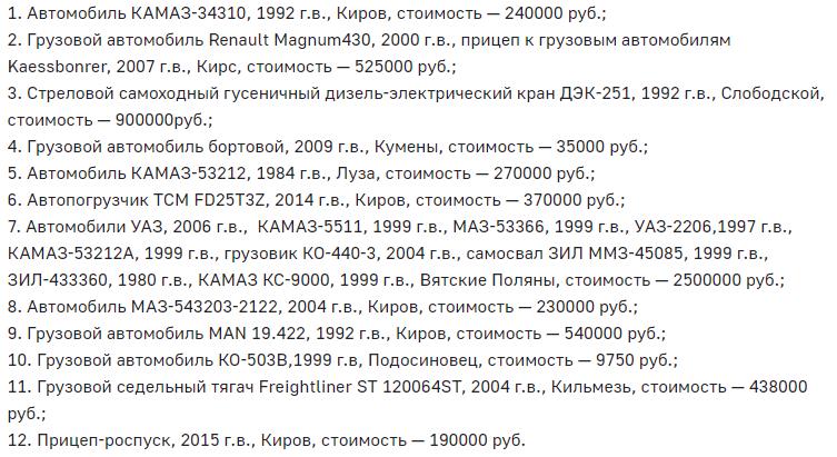 Кировские приставы передали на реализацию арестованную спецтехнику