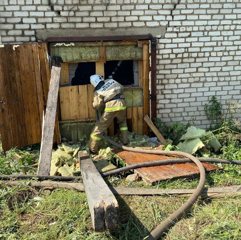 В Кировской области загорелась чага