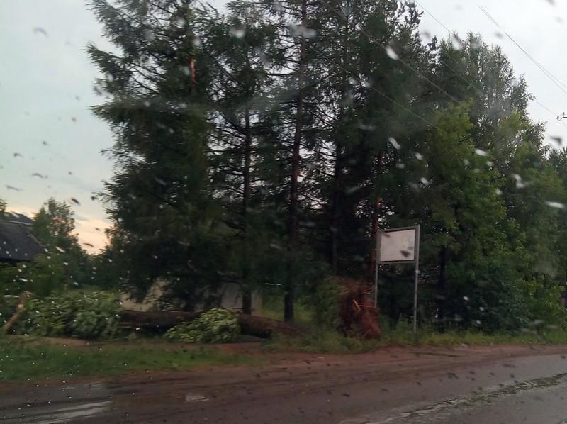В Даровском стихия лишила людей электричества и связи