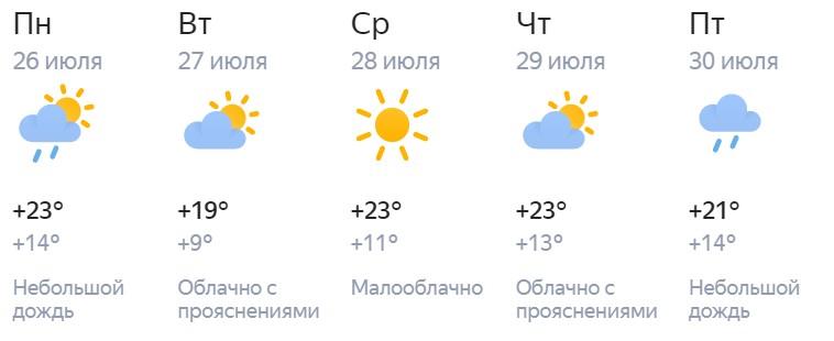 Рабочая неделя в Кирове в конце июля начнется с дождя