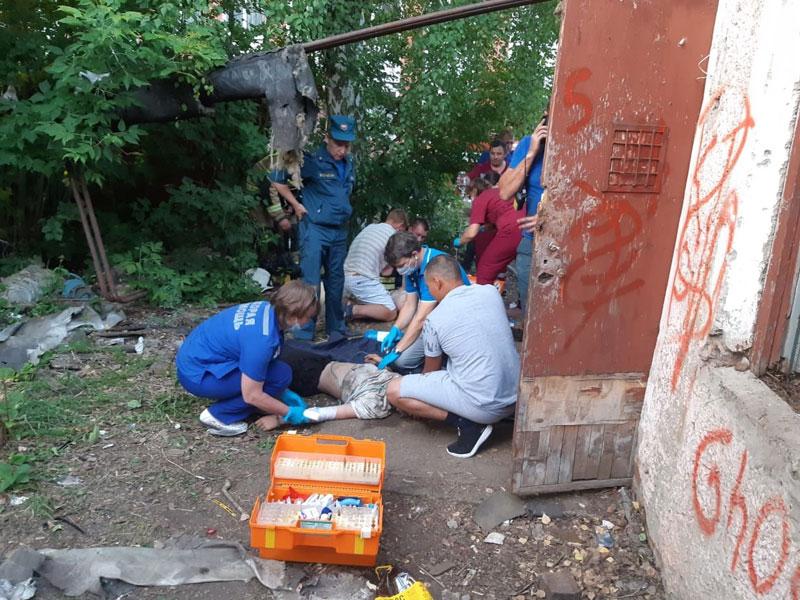 4 подростка госпитализированы после пожара в Вятских Полянах